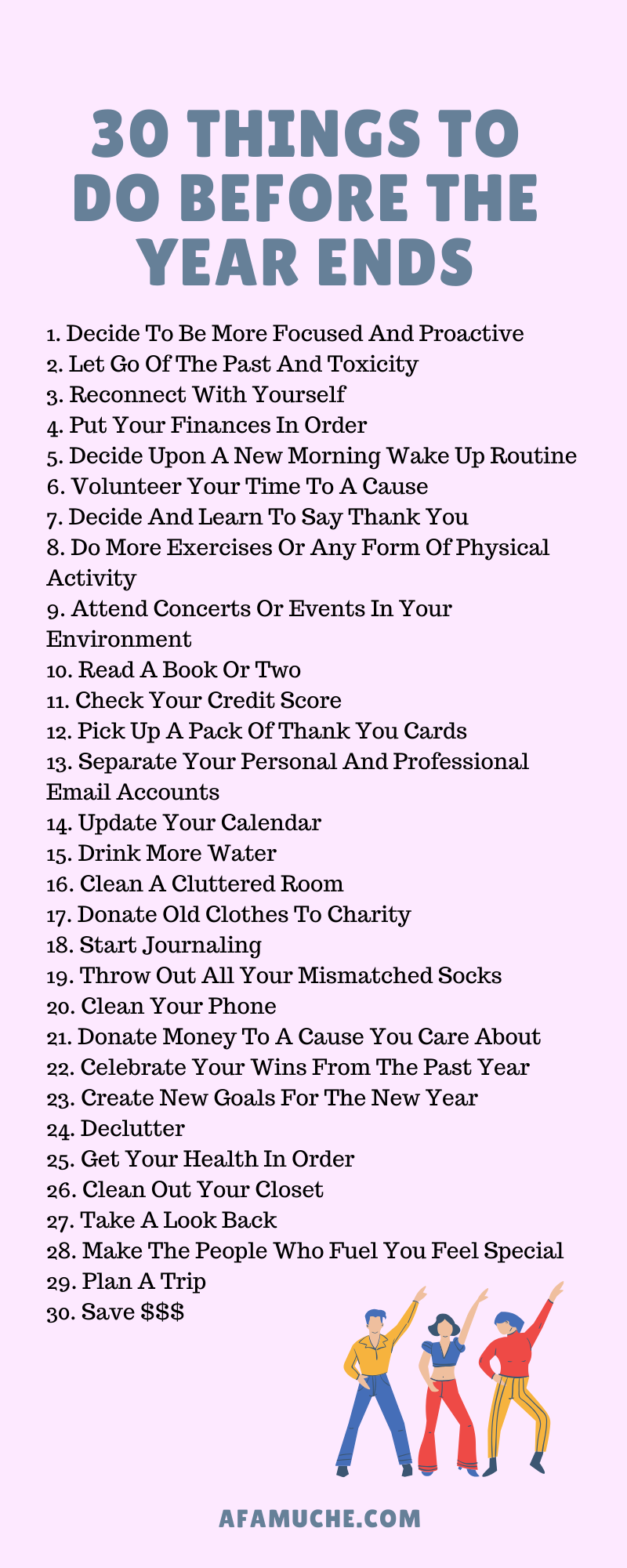 Photo of 30 Things to do before the year ends infographics