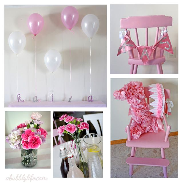 pink girly budget diy first birthday easy tricks birthdays and