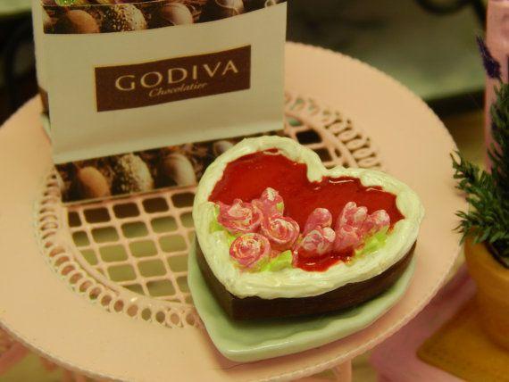 Handmade Chocolate Heart Shaped Valentine Cake by JansPetitPantry