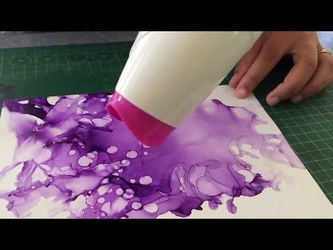 Using alcohol ink for the first time| Monochromatic| You only need 4 things