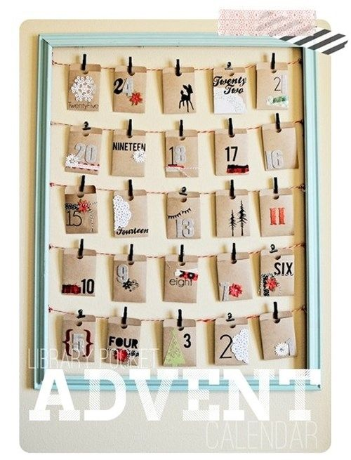 ideas diy para crear tu propio calendario de adviento