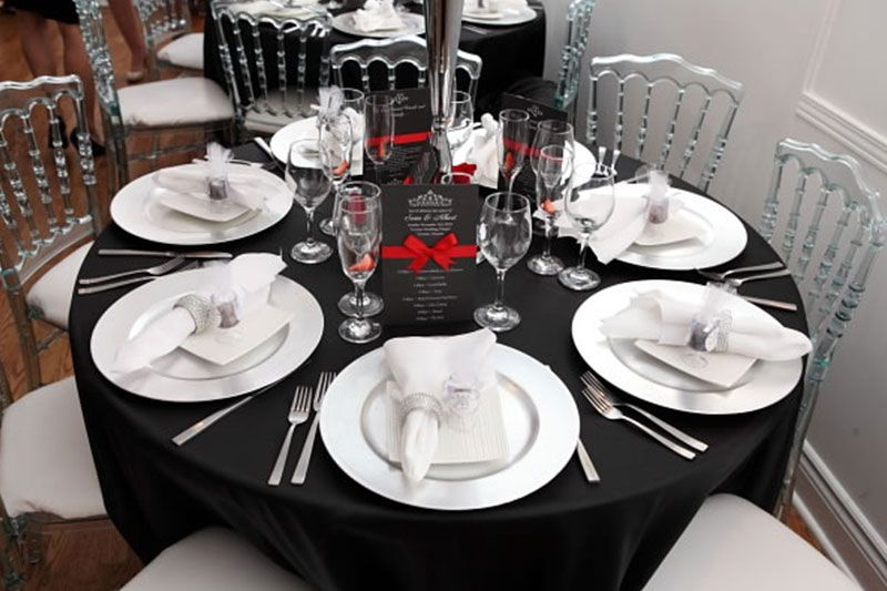 black and white table setting | black-white-table-setting-wedding & black and white table setting | black-white-table-setting-wedding ...