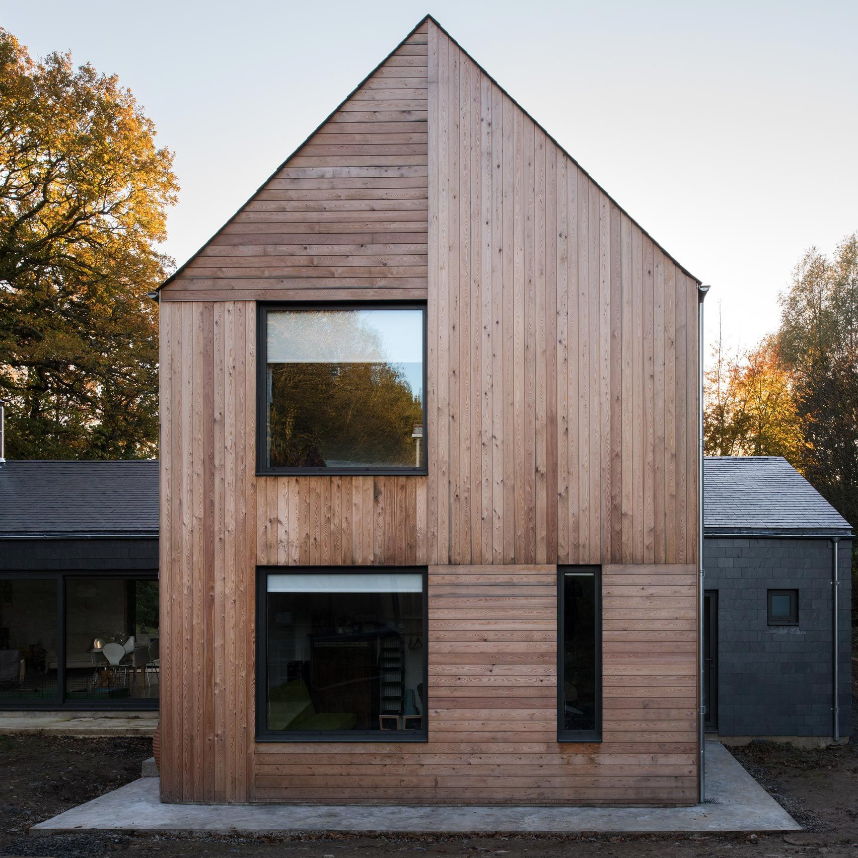 Elliott Architects Has Completed A Family Home In Northumberland Made Up Of Two Volumes Clad In