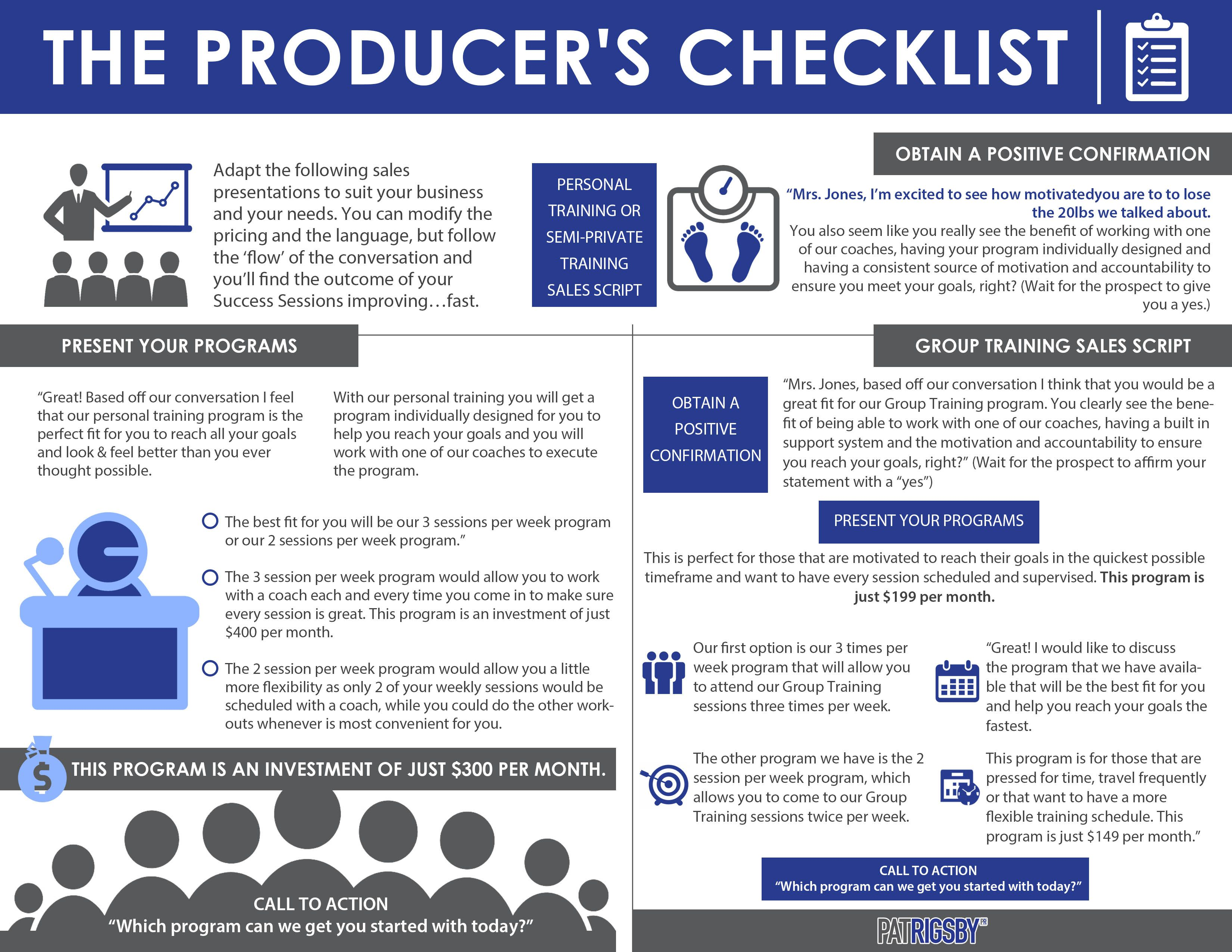 Top Producer S Checklist To Improve And Expand Sales How Has Your