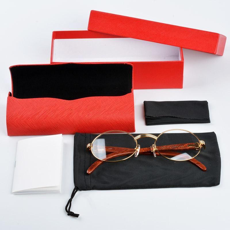 111f95edf7b  sunglasses luxury brand 18K Gold sunglasses metal frames real Wooden  designer sunglasses brands for men vintage wood Glasses with Red box