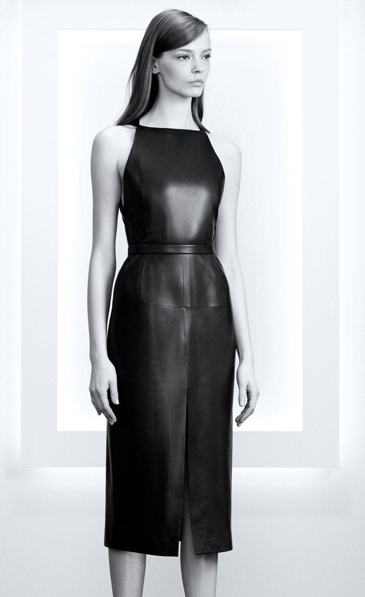 awesome Красивые кожаные платья (50 фото) — Кому подходит роковой наряд и с  чем его сочетать  3c3f89df583