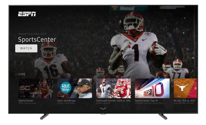 ESPN and Freeform apps arrive on 2017 Samsung Smart TVs
