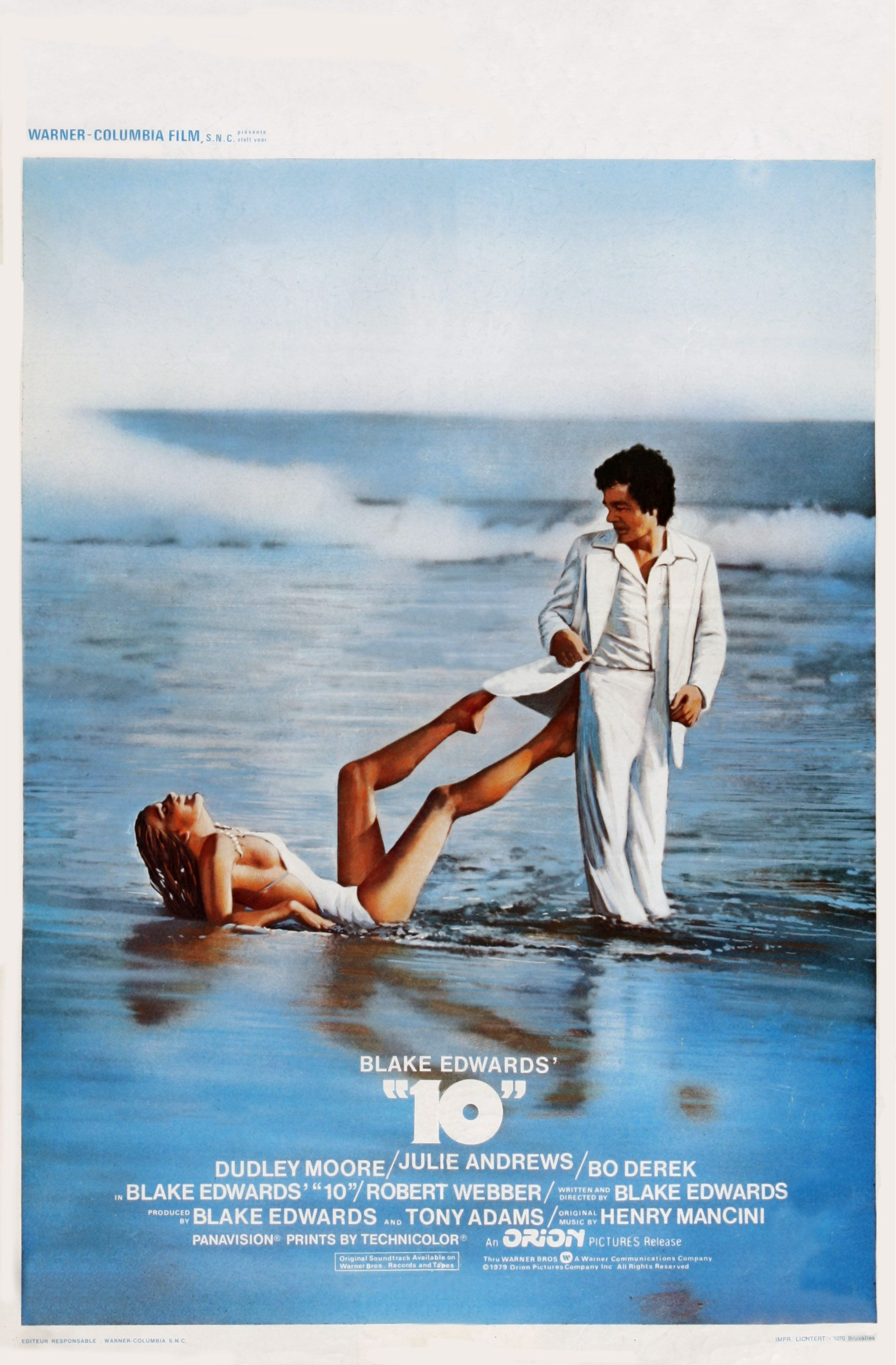 10 (Blake Edwards, 1979)  Starring Dudley Moore, Julie Andrews