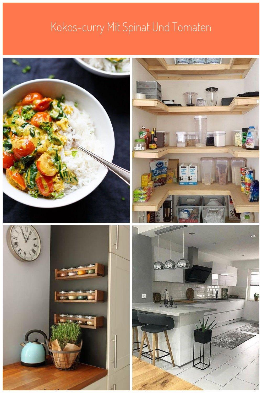 Kokos Curry mit Spinat und Tomaten …