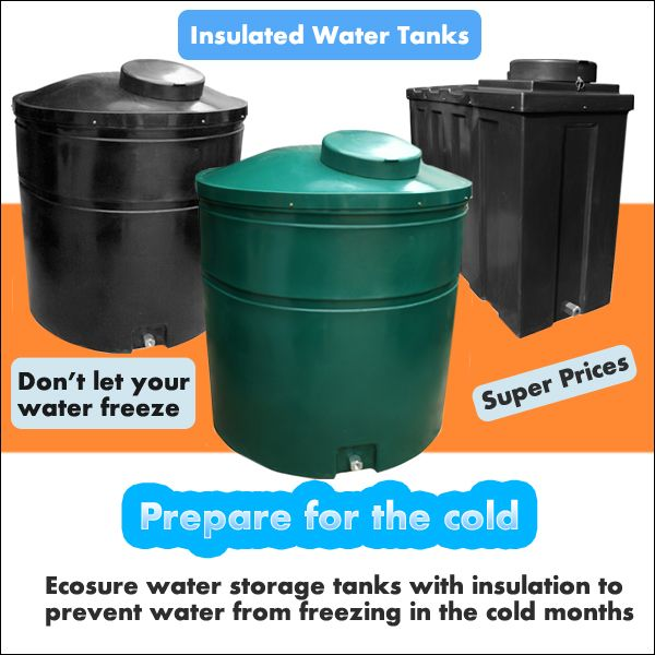 Ecosure Insulated Water Tanks Made With Extra Thickness And Also Contain A Polyurethane Spray Foam Within The Tank With Images Water Tank Water Storage Water Storage Tanks