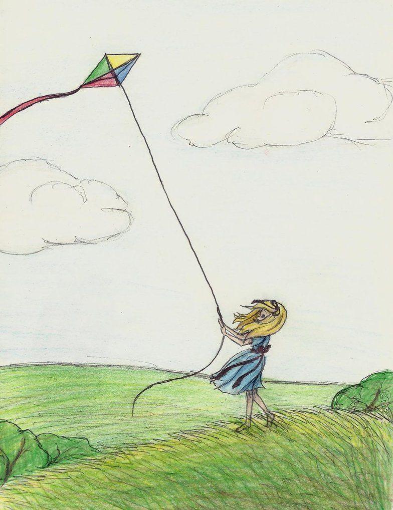 flying kite illustration - photo #2