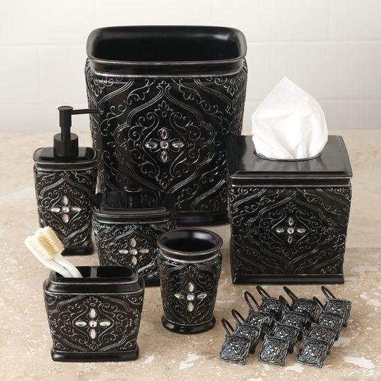 Old World Bathroom Decor: Black Old World Decorative Bathroom Set