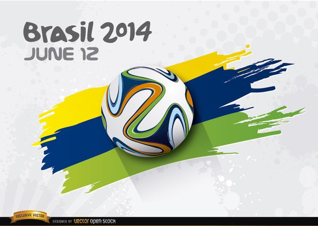 Football rolling over Brasil 2014 colors Football rolling over Brasil 2014 colors, Vector by Vector Open Stock License: Attribution ID: 315598...