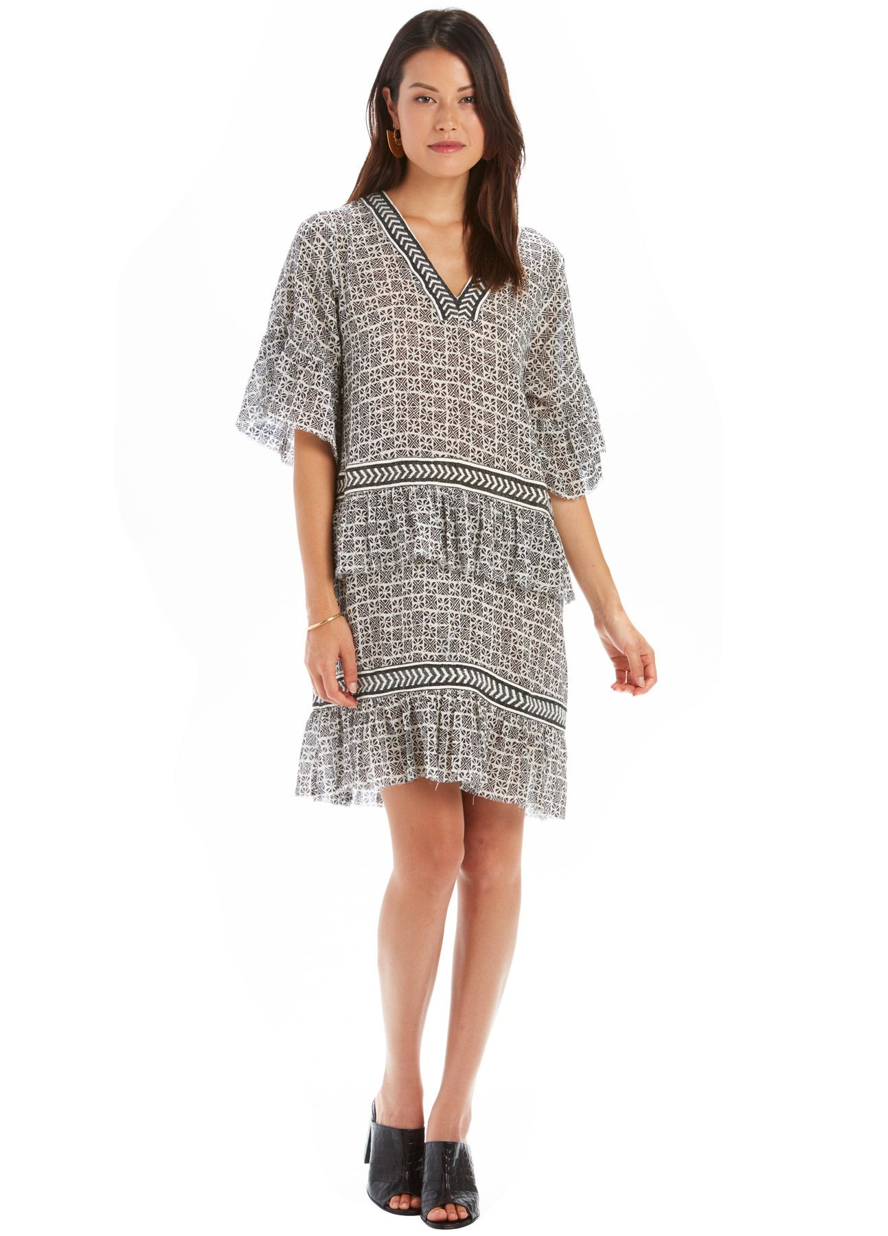Lemlemus ukafau dress is cut from breathable cotton gauze patterned