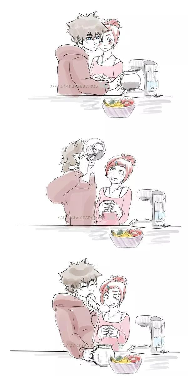 Sora x Kairi Morning Coffee Part 2   Kingdom hearts   Pinterest ...