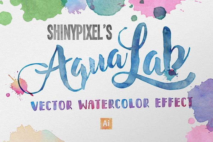Aqualab Vector Watercolor Effect By Shinypixel On Watercolor
