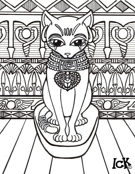 Gods And Goddesses Of Ancient Egypt Coloring Pages Bastet