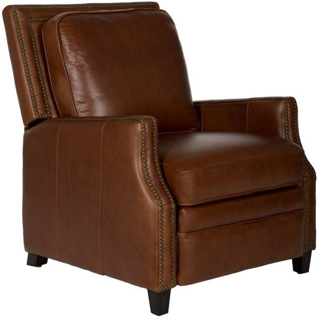 Best Safavieh Buddy Italian Leather Recliner Leather Recliner 400 x 300