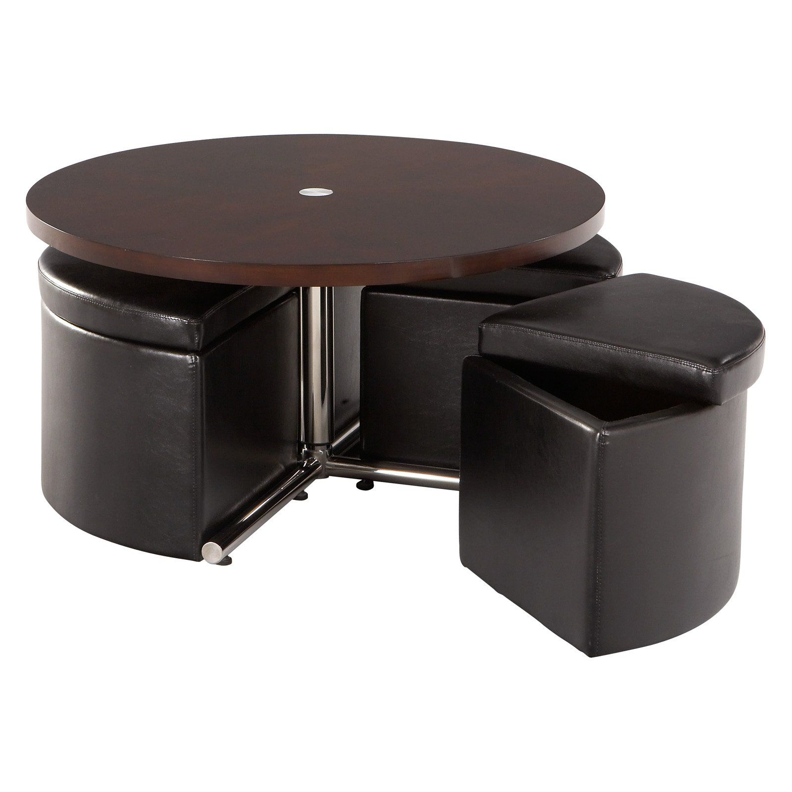 Have To Have It Standard Furniture Cosmo Adjustable Height Round Wood Top Coffee Table With 4 St Cube Coffee Table Coffee Table With Seating Teak Coffee Table