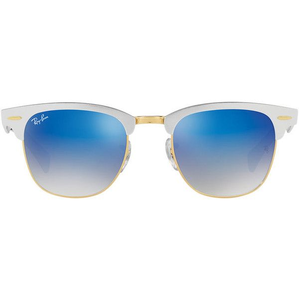 16c981ceab Ray-Ban Rb3507 51 Clubmaster Aluminum Silver Square Sunglasses (139.675  CLP) ❤ liked