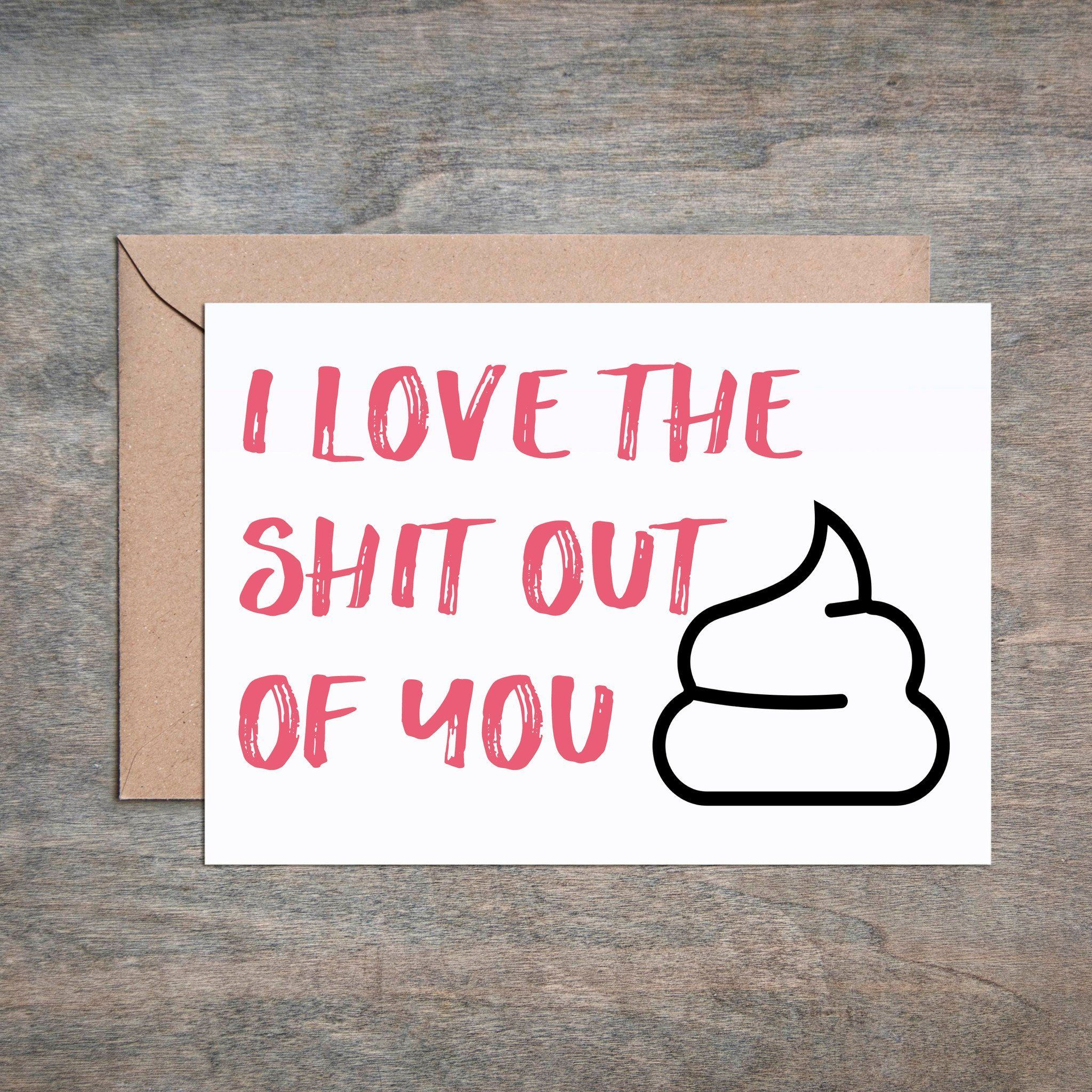 Love the S t Out of You Funny Anniversary Card Funny Love Card