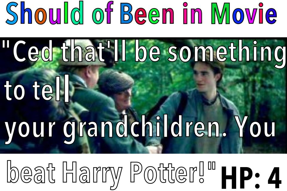 Harry Potter and the Goblet of Fire Should of Been in Movie Cedric Amos Harry Should've Been in Movie