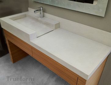 concrete sink contemporary bathroom sinks new york by rh pinterest co uk New Bathroom Vanity and Sink Bathroom Drop in Sink