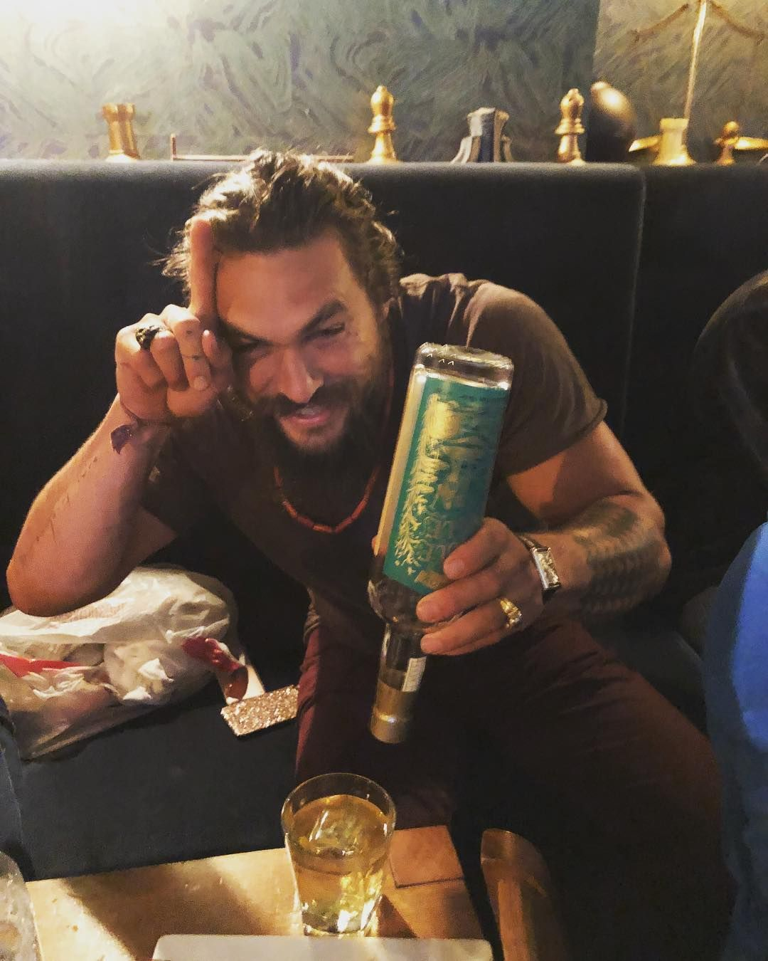 Jason Momoa Upbringing: Jason Momoa And More Booze.....lol