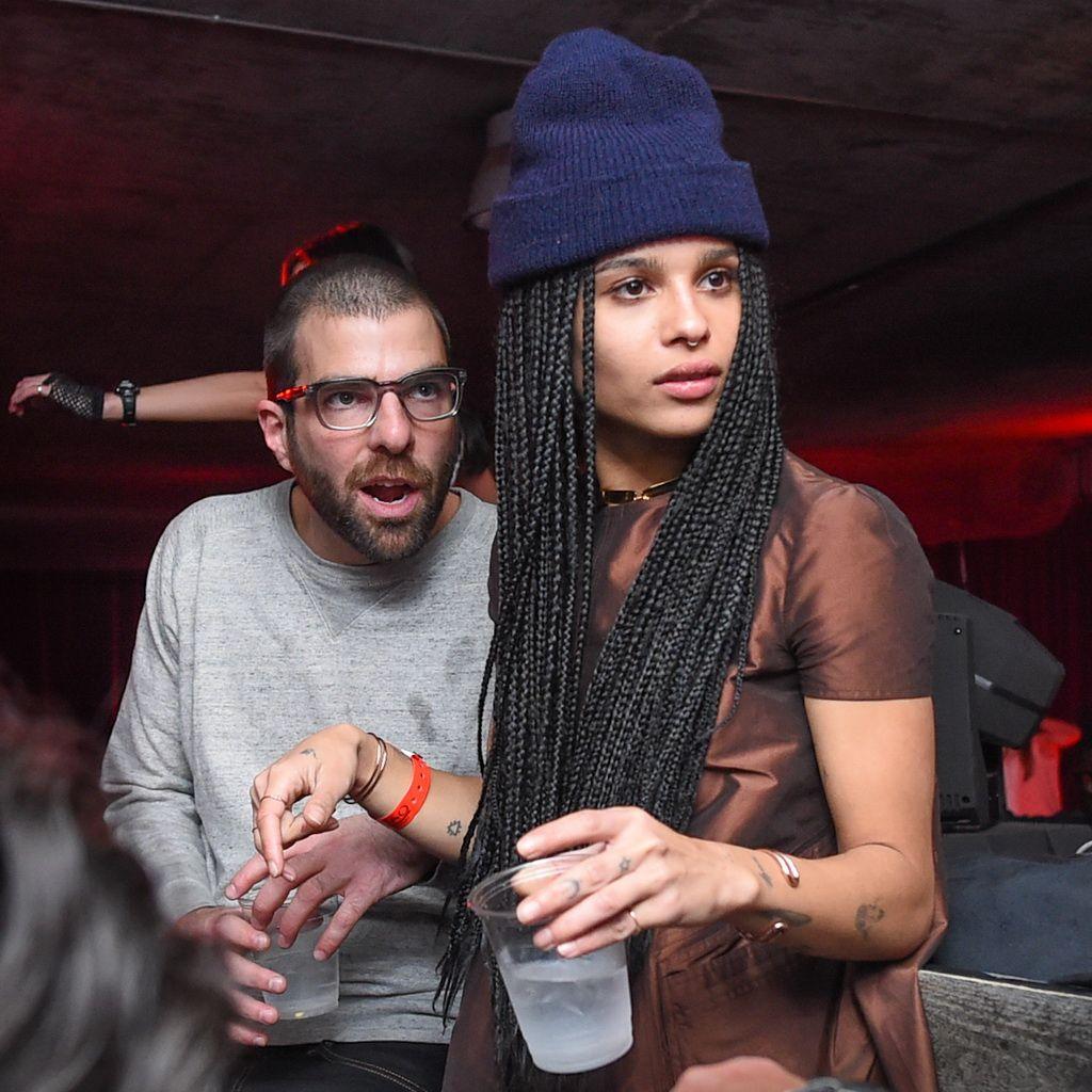 Zachary Quinto and Zoe Kravitz at Elyx presents TAO Nightclub at Sundance