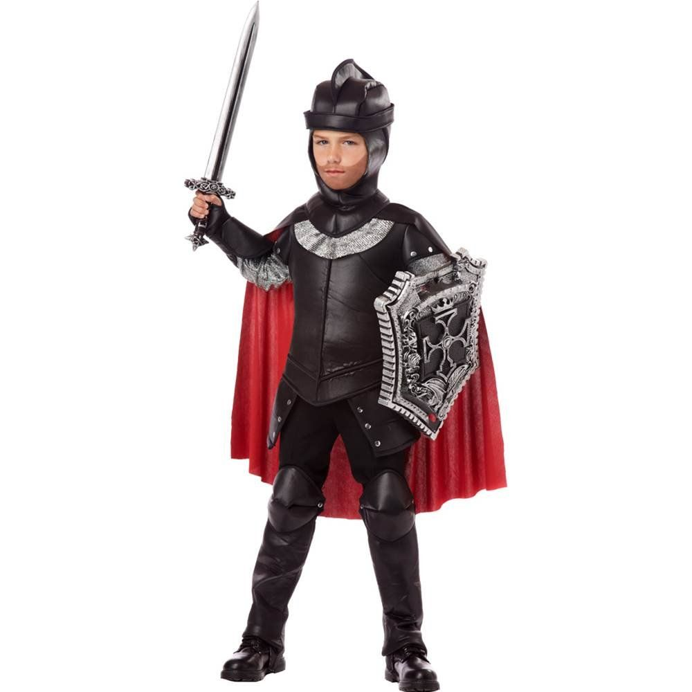 Valiant Knight Boys Costume - Save the queen and defend the kingdom when you wear this Valiant Knight Boyu0027s Costume. Black brown and green tunic features a ...  sc 1 st  Pinterest & California Costumes The Black Knight Child Costume Large ...