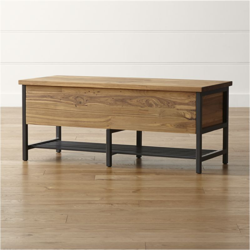 Teca Storage Trunk Bench Reviews Crate And Barrel Bench With Storage Living Room Designs Decor
