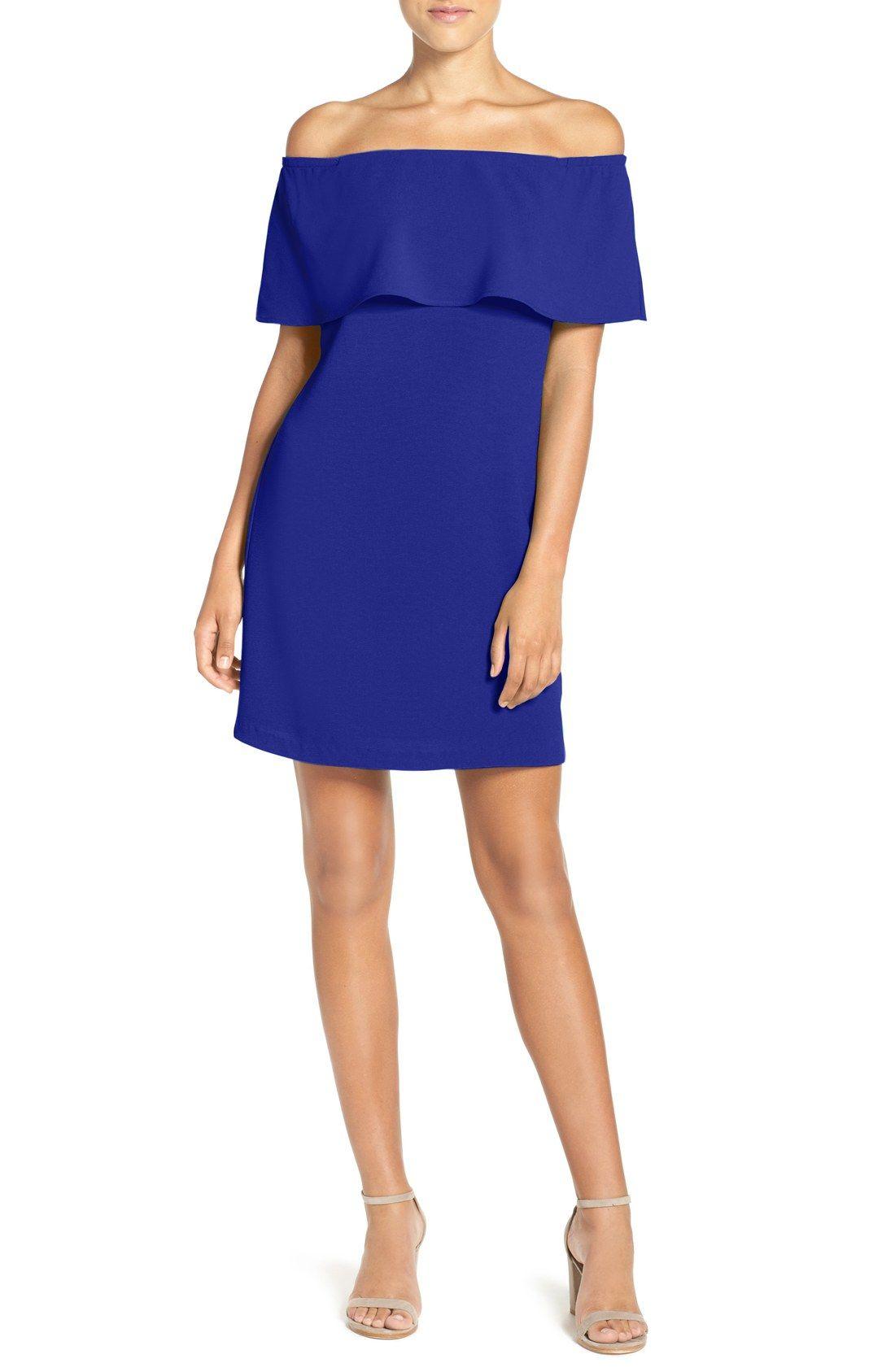 Off the Shoulder Woven A-Line Dress
