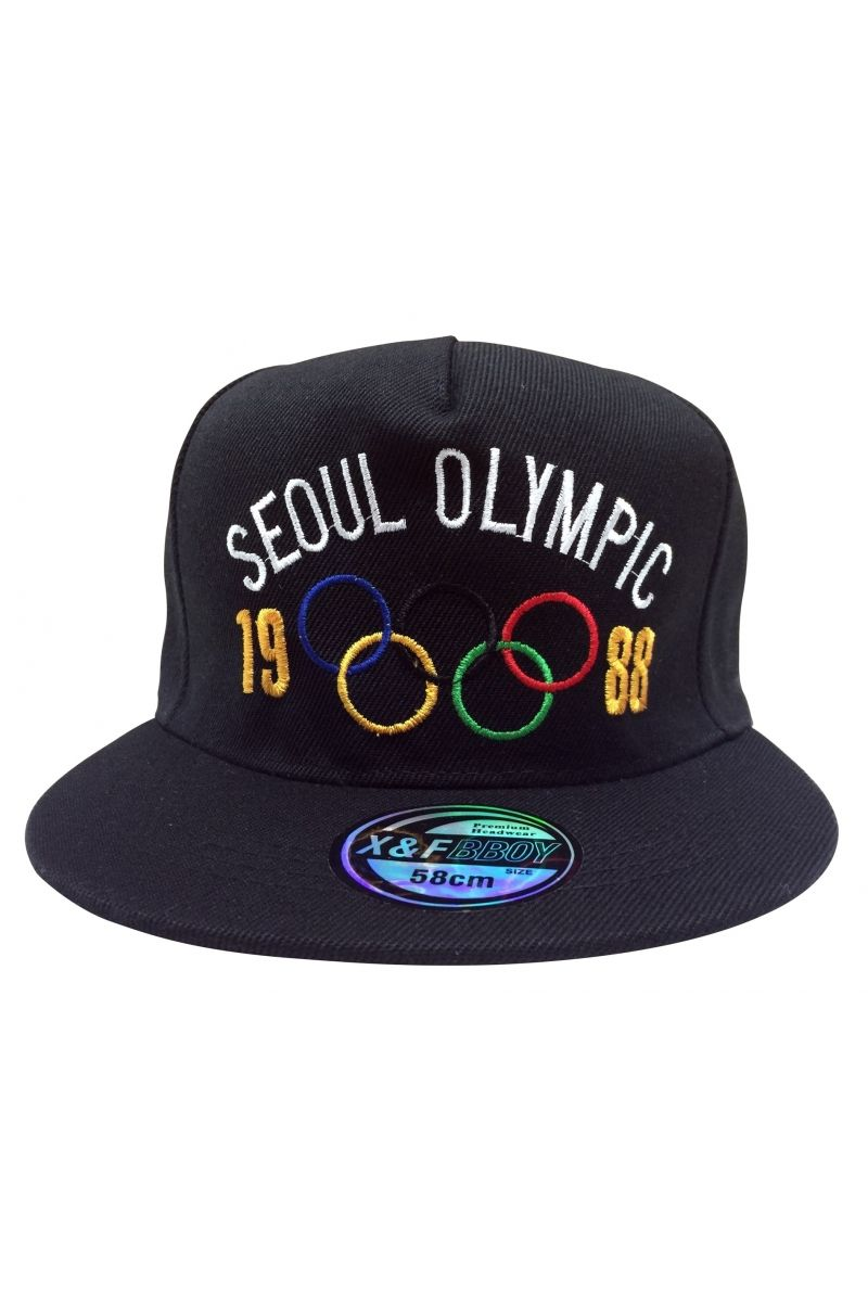 Do you remember Olympic of 1988? Korean Seoul Olympic designed snapback caps, 100% cotton baseball hats for men and women. Adjustable black snapback caps.