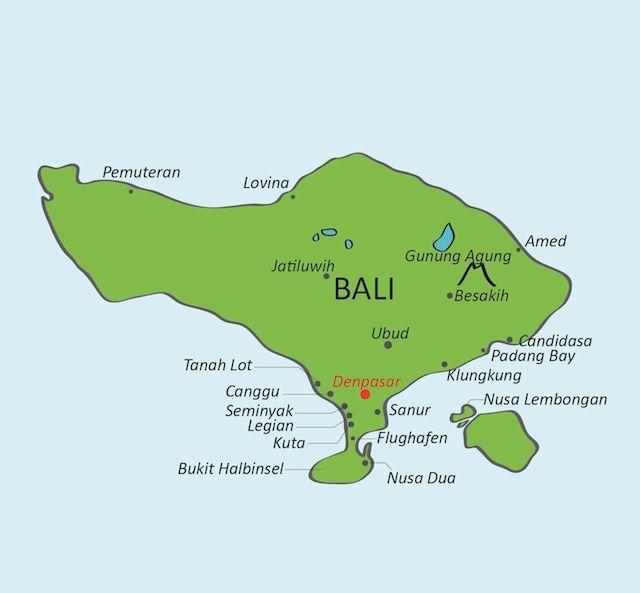 indonesien sehenswürdigkeiten karte Bali Karte   Bali Reisen | Bali reisen, Bali reise, Bali urlaub