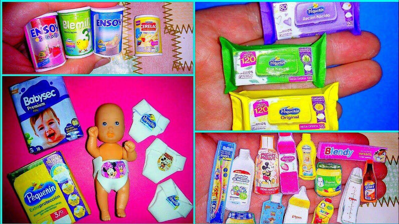 Diy Cosas Fáciles De Hacer Para Bebe De Muñeca Barbie Manualidades Accesorios Y Miniaturas Youtube Paper Crafts Diy Paper Crafts Diy Tutorials Paper Crafts