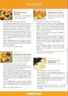 Feuille silicone boule décors 2/2 - Tupperware : Gougères au comté, Pommes duchesses, Sablés pressés, Meringues