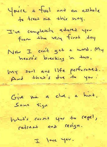YouRe A Fool Love Letter  Love Letters And Other Sentiments
