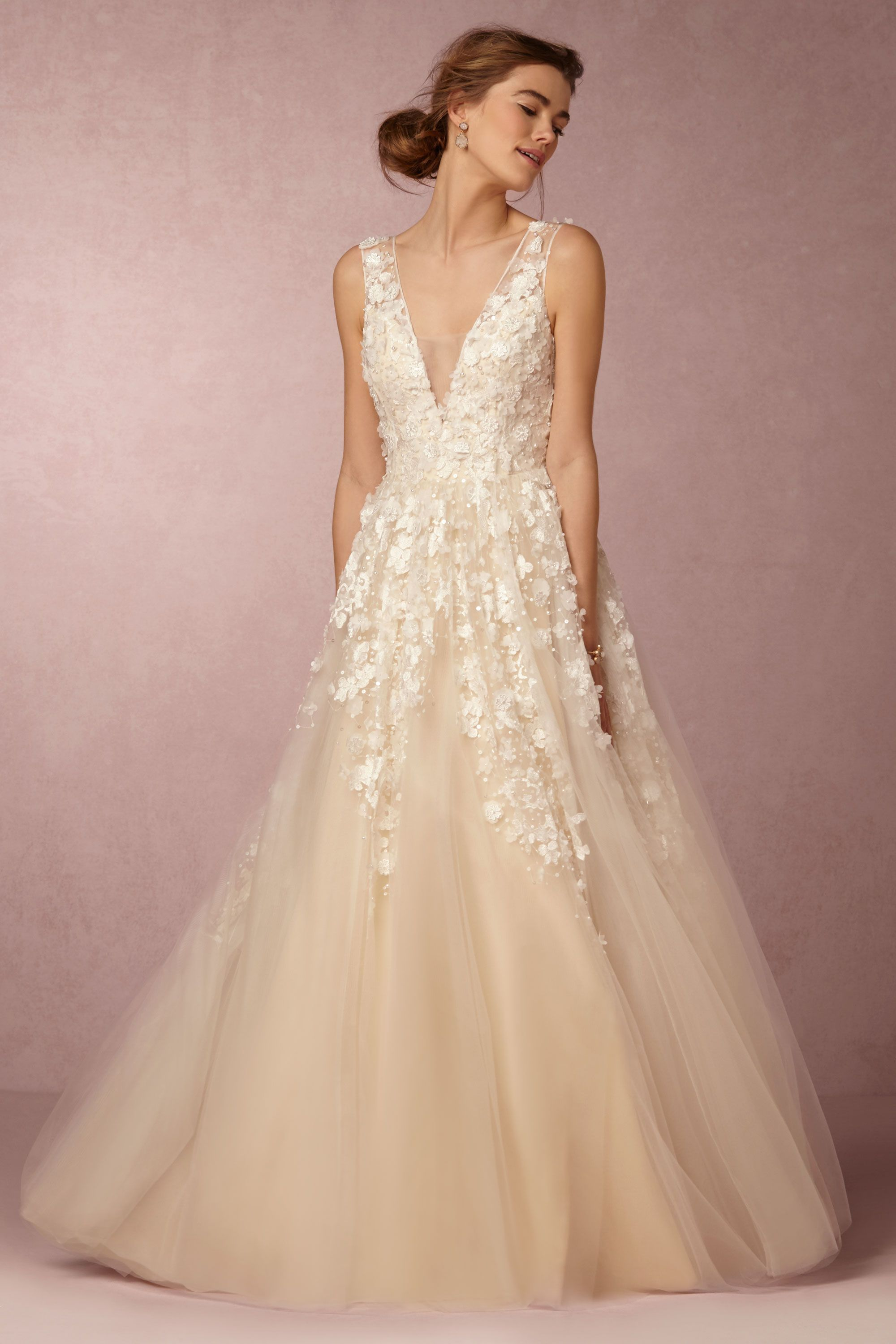 BHLDN\'s Etoile Ariane Gown in Creme | Gowns, Wedding dress and Wedding