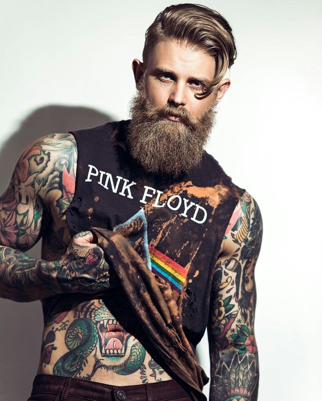 Pin De Ricardo Inostroza En Barbas Hombres Tatuados Hombres Y
