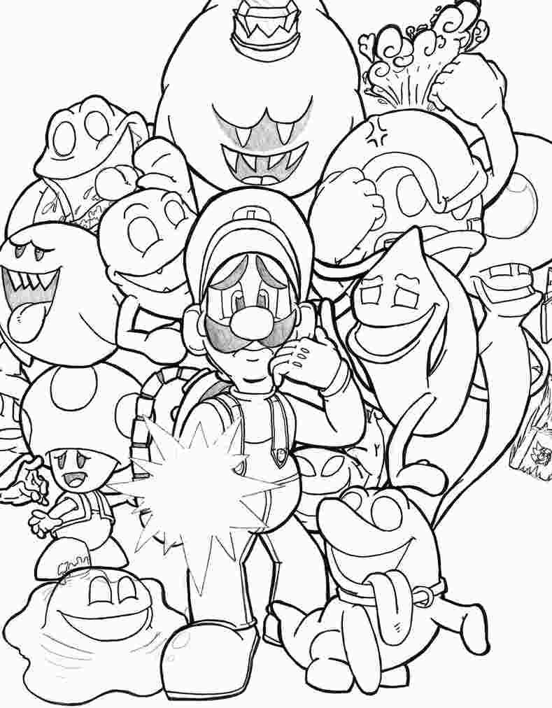Luigi S Mansion 3 Coloring Pages Super Mario Coloring Pages