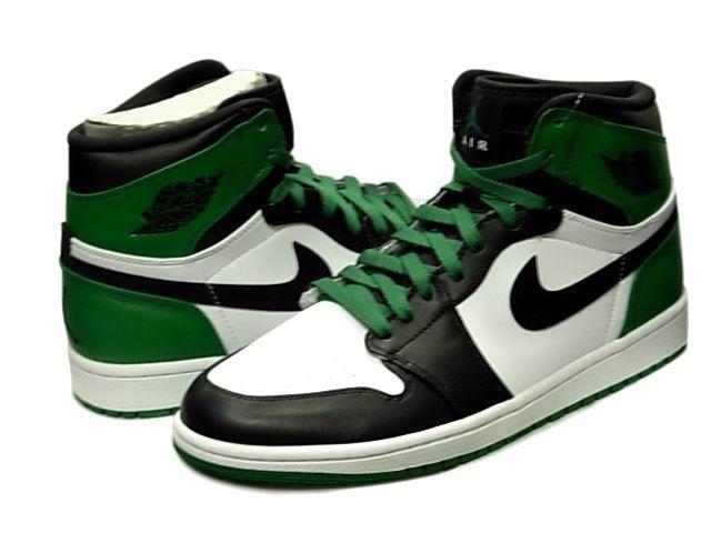 new style b858f b1dc8 Air Jordan 1 (I) Retro High - DMP Bulls vs. Celtics 60+ Pack - White    Black - Celtic Green