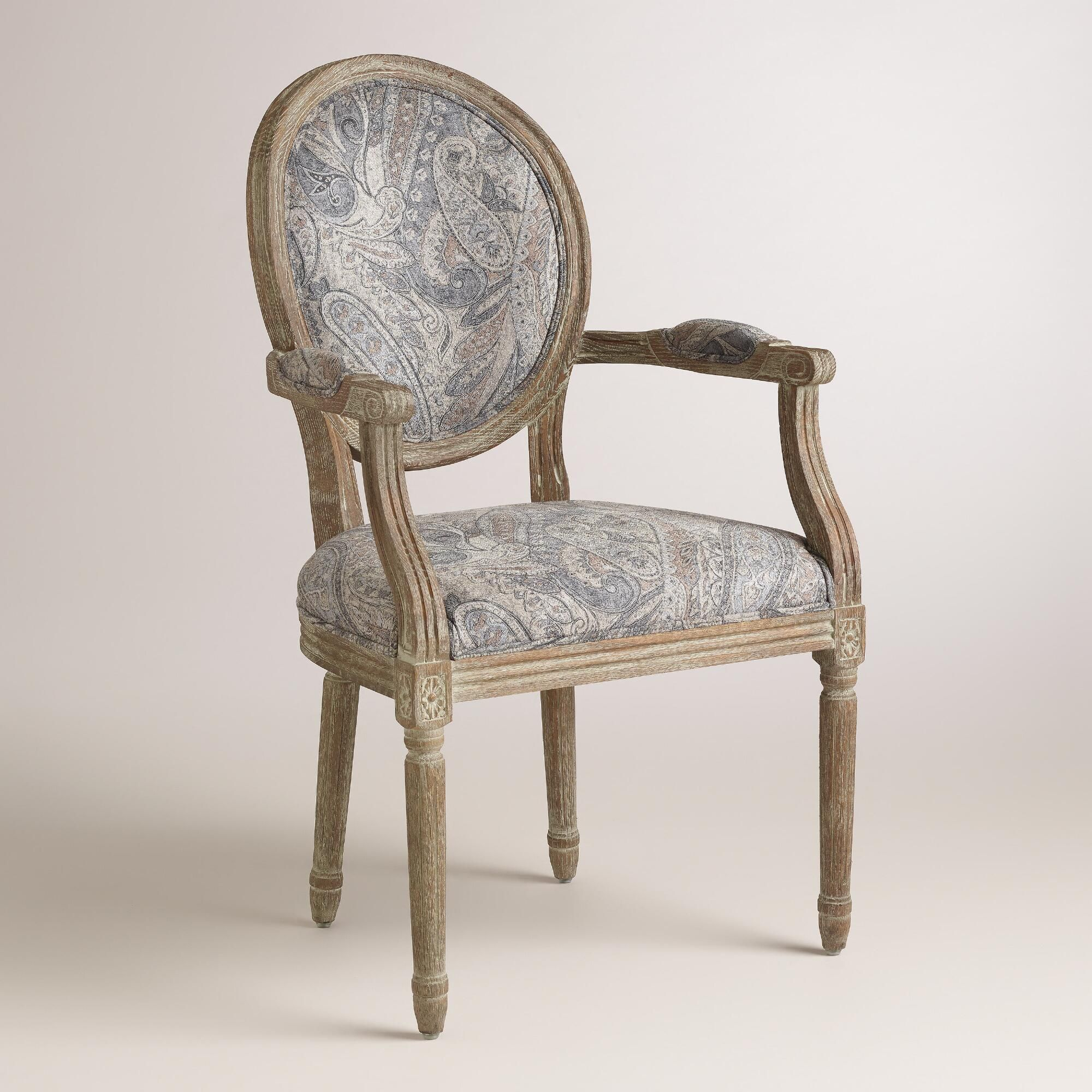 Arm Chair Dining Room Amusing Dove Paisley Paige Round Back Armchair  World Market  Dream Home Design Inspiration
