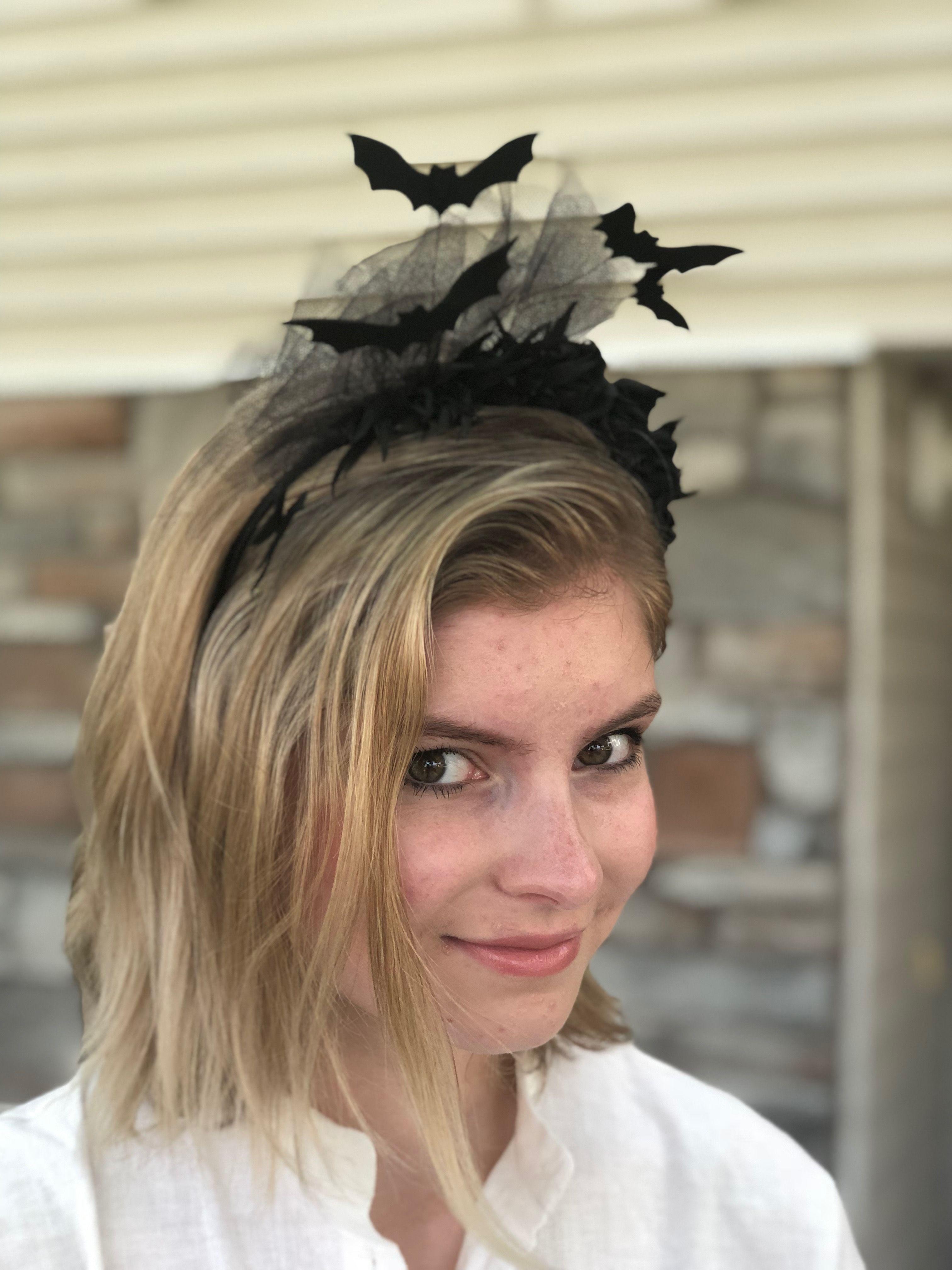Bats headband gothic headband goth emo headband vampire headband