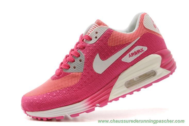 meilleurs chaussures de running Nike Air Max 90 HYP PRM Rose Rouge Blanc