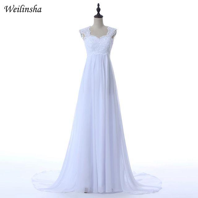 23e97f444e Weilinsha Cheap Stock Wedding Dresses Custom Plus Size Applique ...
