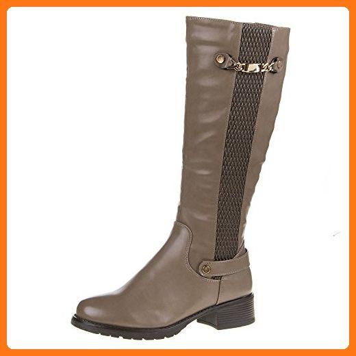 Klassische Damen Schuhe Stiefel Warm Gefütterte