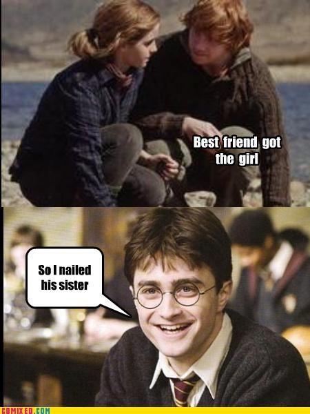 Best Friend Got The Girl Harry Potter Funny Pictures Harry Potter Jokes Harry Potter Funny