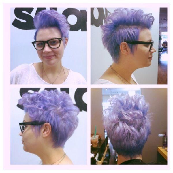 Pravana Pastels Luscious Lavender Short Haircut