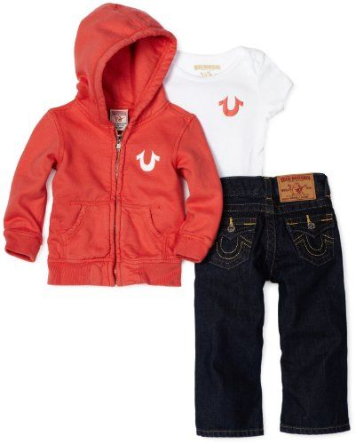 59e177c63 $150.00 Baby True Religion Baby-girls Infant Billy 3 Piece Gift Box Set,  Poppy