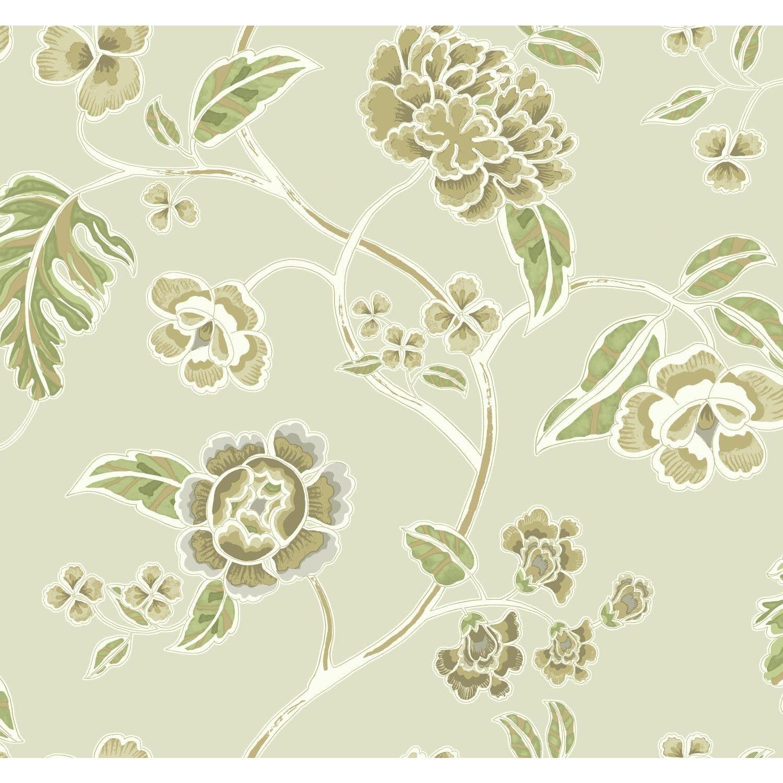 "Global Chic Zen Garden Trail 27' x 27"" Floral and Botanical Wallpaper"